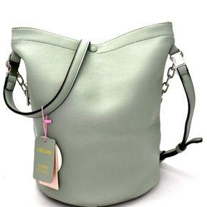 Chain Accent 2-Way Hobo Shoulder Bag